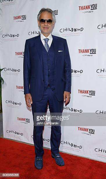 Artist Andrea Bocelli attends World Childhood Foundation USA Thank You Gala 2016 at Cipriani 42nd Street on September 16 2016 in New York City