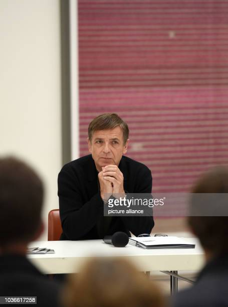 Artist Andreas Gursky attends a press preview of his exhibition in Duesseldorf Germany 30 June 2016 The exhibition Andreas Gursky _ not abstract runs...