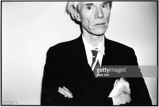 Artist Andy Warhol posing for portrait on August 15th in 1981 Los Angeles California