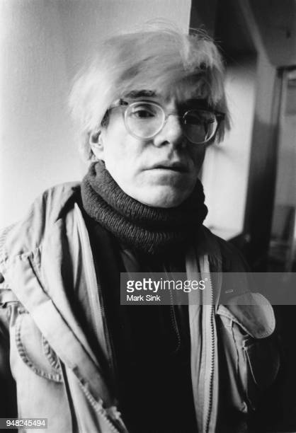 Artist Andy Warhol sits on the windowsill of the Factory at 860 Broadway on March 4 New York City New York
