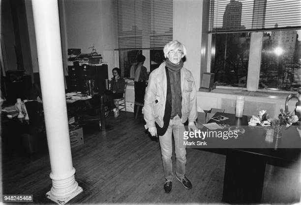 Artist Andy Warhol stands in the main room at the Factory at 860 Broadway on March 4 New York City New York