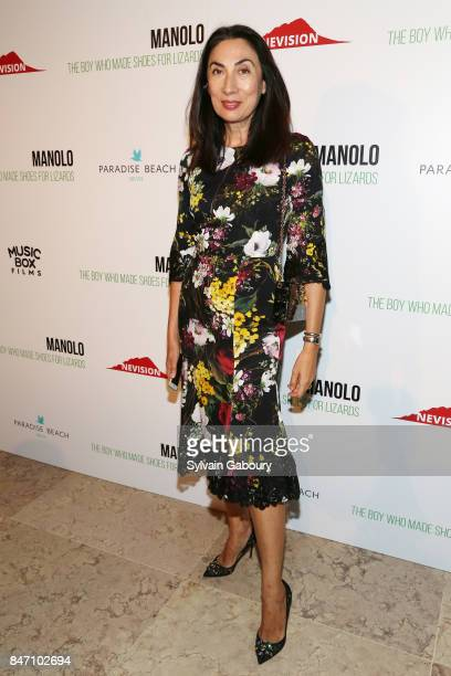 Artist Anh Duong attends the premiere of 'Manolo The Boy Who Made Shoes for Lizards' hosted by Manolo Blahnik with The Cinema Society on September 14...