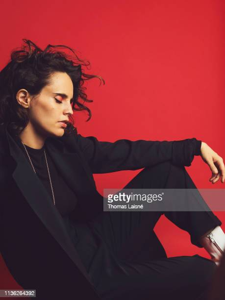 Artist Anna Calvi poses for a portrait on June 20 2018 in Paris France