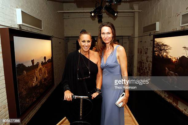 Artist Anne de Carbuccia and designer Donna Karen attend ONE One Planet One Future at Bank Street Theater on September 13 2016 in New York City