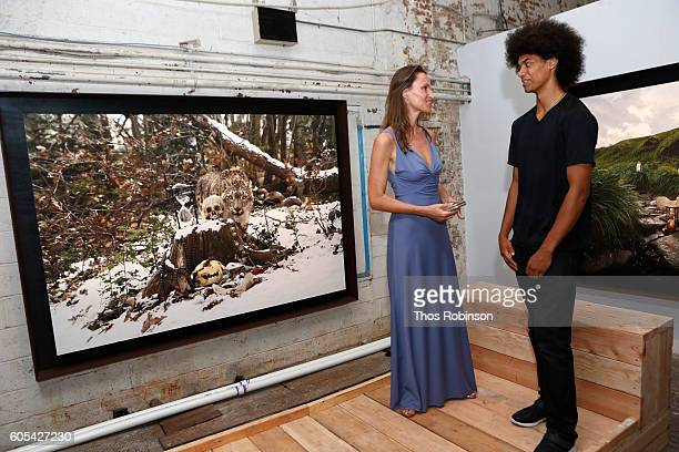 Artist Anne de Carbuccia and Malik Wormsby attend ONE One Planet One Future at Bank Street Theater on September 13 2016 in New York City