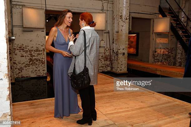 Artist Anne de Carbuccia and Marina Pignatelli attend ONE One Planet One Future at Bank Street Theater on September 13 2016 in New York City