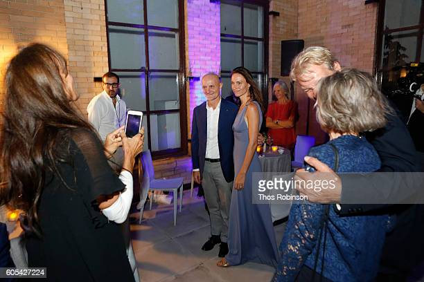 Artist Anne de Carbuccia attends ONE One Planet One Future at Bank Street Theater on September 13 2016 in New York City