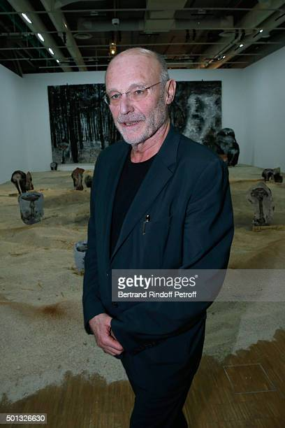 Artist Anselm Kiefer attends the Anselm Kiefer's Exhibition Press Preview held at Centre Pompidou on December 14 2015 in Paris France