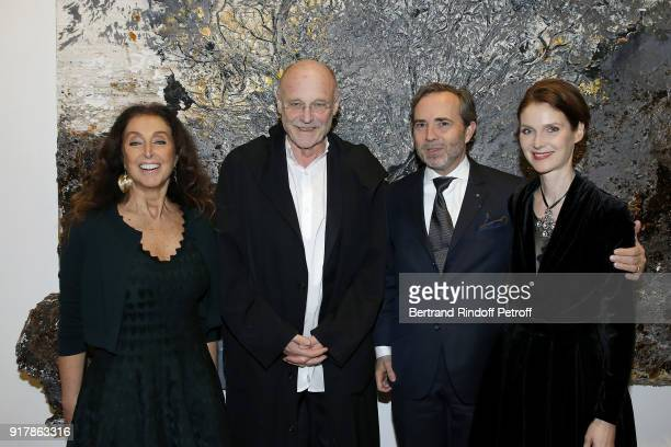 Artist Anselm Kiefer attends the 'Fur Andrea Emo' Anselm Kiefer's Exhibition at Thaddeus Ropac Gallery on February 10 2018 in Paris France