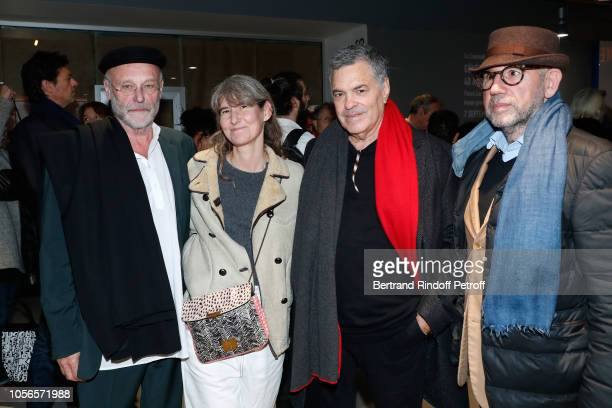Artist Anselm Kiefer Director Laetitia Masson Director of the movie Amos Gitai and Jose Alvarez attend the 'A Tramway in Jerusalem Un Tramway a...