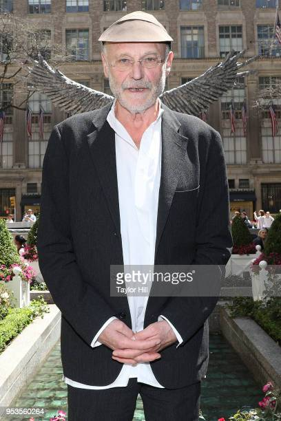 Artist Anselm Kiefer unveils his new sculpture 'Uraeus' at Rockefeller Center on May 1 2018 in New York City