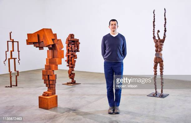Artist Anthony Gormley is photographed for the Times on April 16 2018 in London England