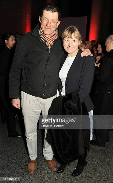 Artist Antony Gormley and Vicken Parsons attend the Turner Prize 2012 winner announcement at the Tate Britain on December 3 2012 in London England