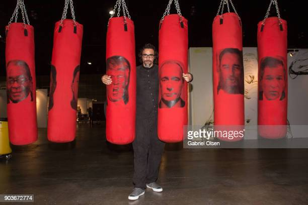 Artist Antuan Rodriguez attends the 23rd Annual LA Art Show Opening Night Premiere Gala Benefiting St Jude Children's Research Hospital at Los...