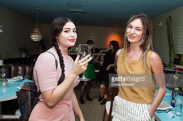 Artist Ariana Papademetropoulos and writer/filmmaker Katharine O'Brien attend the Women of Cinefamily weekend closing party at The Standard Hollywood...