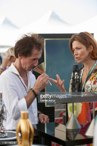 F1 artist Armin Flossdorf at the launch of the F1 fragrance at the Formula 1 Etihad Airways Grand Prix Yas Marina Circuit on November 30 2019 in Abu...