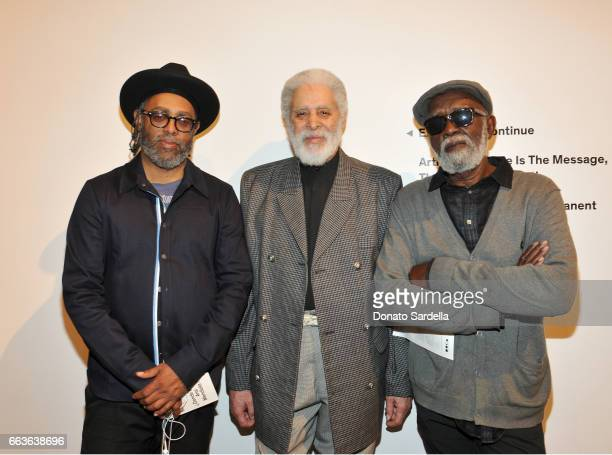 Artist Arthur Jafa and Ben Caldwell attend MOCA's Leadership Circle and Members' Opening of 'Carl Andre Sculpture as Place 19582010' and 'Arthur Jafa...
