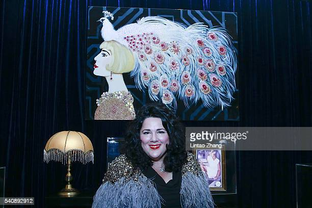 Artist Ashley Longshore attends the promotional event for Shiseido's Cle de Peau Beaute at Fairmont Peace Hotel on June 16 2016 in Shanghai China