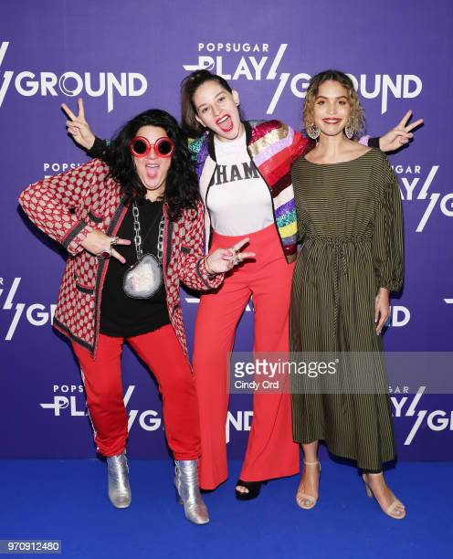 Artist Ashley Longshore Flour Shop founder Amirah Kassem and poet Cleo Wade attend day 2 of POPSUGAR Play/Ground on June 10 2018 in New York City