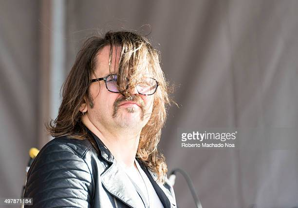 Artist at TO West Halloween Fest 2015 Man in long hair performing music on stage at the fest Toronto West Halloween Fest at BloorWest Village is a...