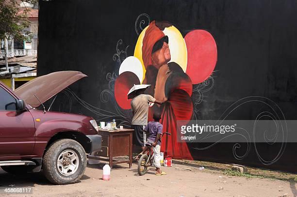 Artist at work, Osu district, Accra, Ghana