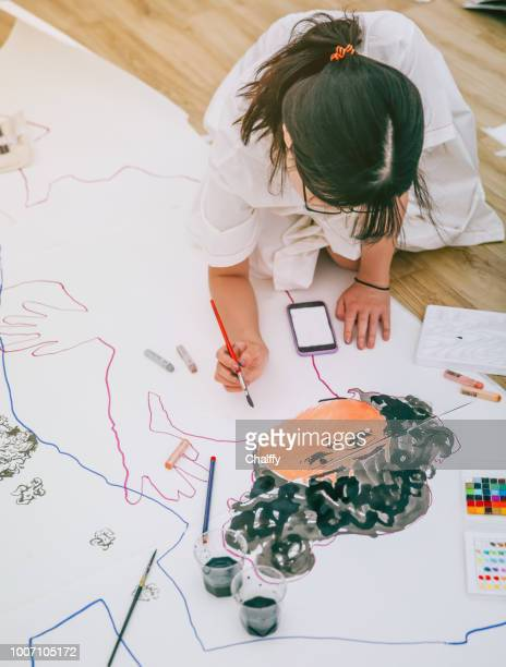 artist at working - illustrator stock photos and pictures