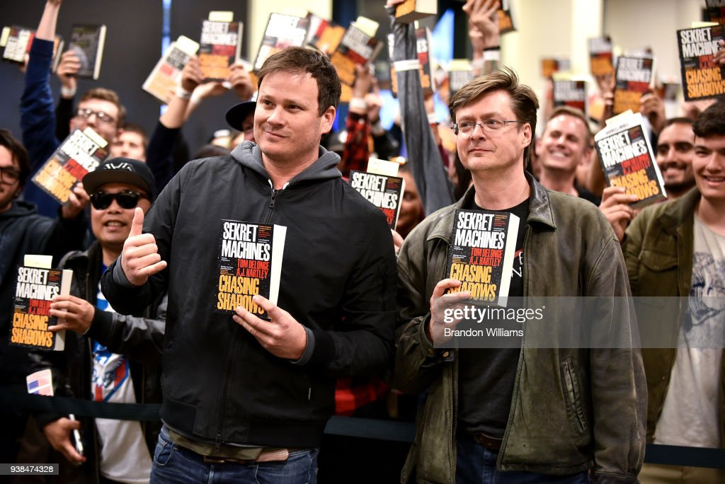 "Tom Delonge And AJ Hartley Sign And Discuss Their New Novel ""Sekret Machines"""