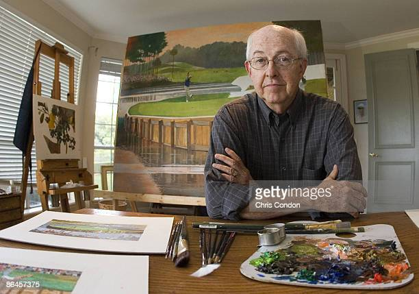 Artist Bart Forbes paints historic moments of The Players Championship to be displayed in the new clubhouse at TPC Sawgrass