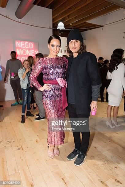 Artist Beau Dunn and filmmaker Spencer Gilbert attend 'Beau Dunn's 'Plastic' opening at De Re Gallery on November 17 2016 in West Hollywood California