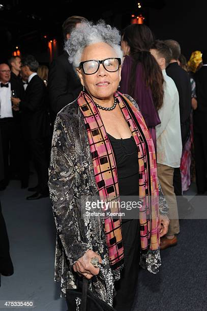 Artist Betty Saar attends the 2015 MOCA Gala presented by Louis Vuitton at The Geffen Contemporary at MOCA on May 30 2015 in Los Angeles California...