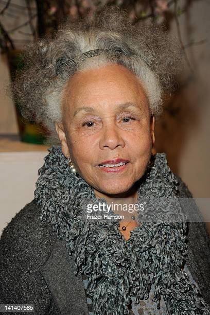 Artist Betye Saar arrives at the Santa Monica Museum of Art's 1st Precognito Gala and Preview Event on March 15 2012 in Santa Monica California