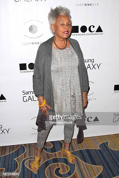 Artist Betye Saar attends the 8th annual MOCA Awards to distinguished women in the arts luncheon held at the Beverly Wilshire Four Seasons Hotel on...