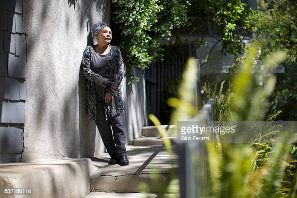 Artist Betye Saar is photographed for Los Angeles Times on April 22 2016 in Los Angeles California PUBLISHED IMAGE CREDIT MUST READ PGina Ferazzi/Los...