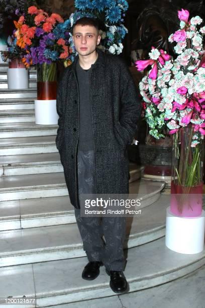 Artist Blondey Mc Coy attends the Berluti Menswear Fall/Winter 20202021 show as part of Paris Fashion Week at Opera Garnier on January 17 2020 in...
