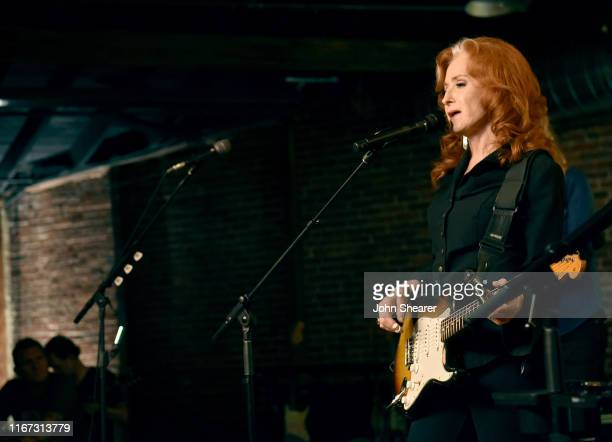 Artist Bonnie Raitt performs onstage during a special event hosted by Spotify and AmericanaFest at Cannery Ballroom on September 10 2019 in Nashville...