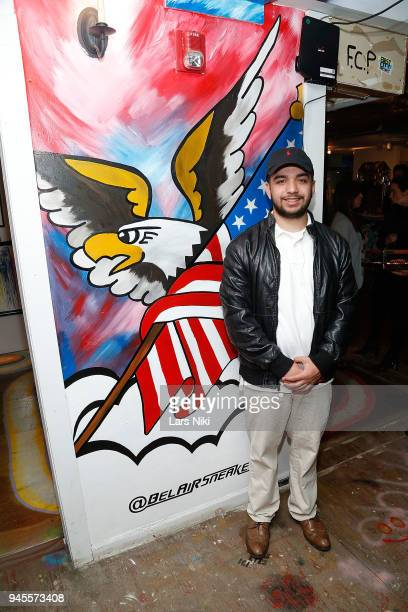 Artist Brandon Aviles attends the Sold Out Art Auction To Benefit Camp For Children With Cancer on April 12 2018 in Glen Cove New York