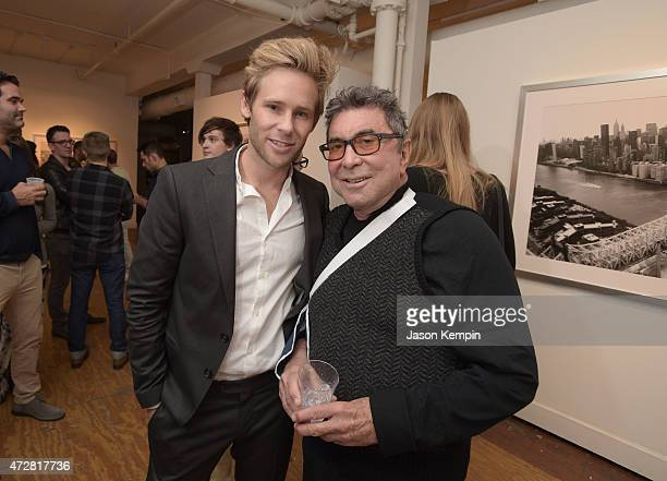 Artist Bryan Fox and producer Sandy Gallin attend We Alone a photography exhibit by Bryan Fox at Think Tank Gallery on May 9 2015 in Los Angeles...