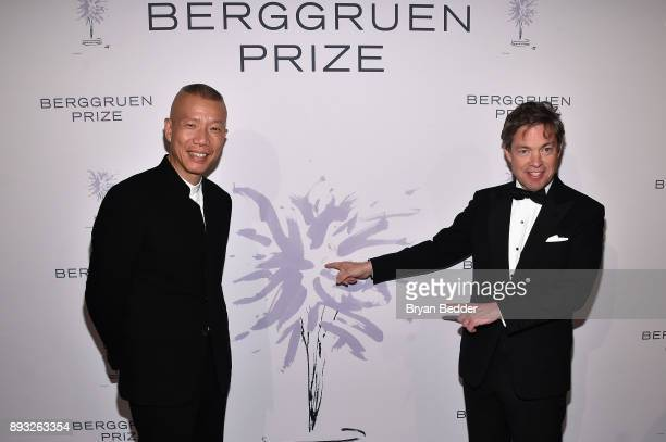 Artist Cai GuoQiang and Chairman of the Berggruen Institute Nicolas Berggruen attend the the Berggruen Prize Gala at the New York Public Library on...