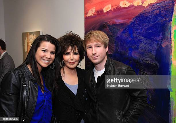 Artist Carole Bayer Sager and her son Christopher Bacharach attend Generations Carole Bayer Sager's debut solo art exhibit at LA Art House on January...