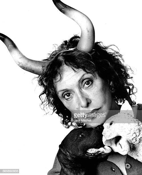Artist Carolee Schneemann 1995 Photo by Jack Mitchell/Getty Images