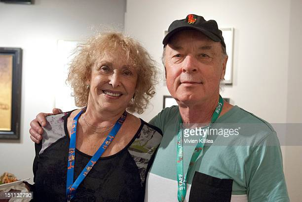 Artist Carolee Schneemann and Telluride Film Festival CoFounder and CoDirector Tom Luddy attend the UCLA TFT The Hollywood Reporter Filmmaker...