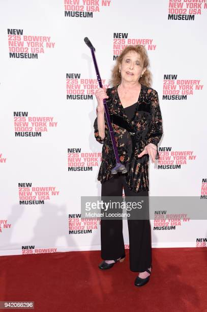 Artist Carolee Schneemann attends the New Museum 2018 Spring Gala at Cipriani Wall Street on April 4 2018 in New York City