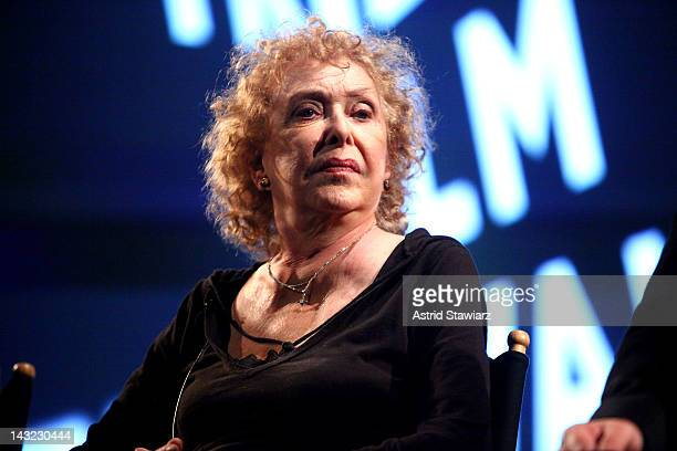 Artist Carolee Schneemann speaks at Tribeca Talks After The Movie AvantGarde Masters A Decade Of Film Preservation during the 2012 Tribeca Film...