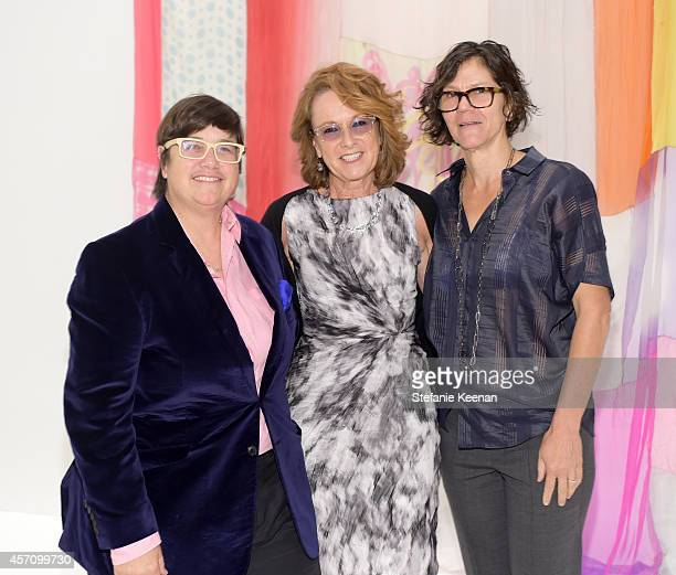 Artist Catherine Opie Hammer Museum Director Ann Philbin and Julie Burleigh attend the Hammer Museum's 12th annual Gala in the Garden with generous...