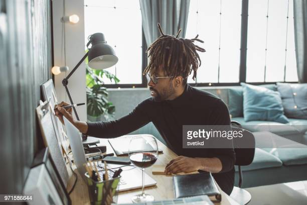 artist caught in moment - artist stock pictures, royalty-free photos & images