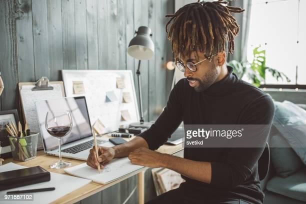 Künstler im Moment gefangen
