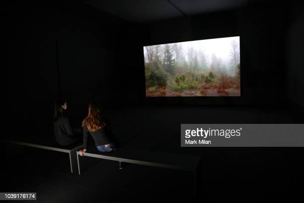 Artist Charlotte Prodger presents BRIDGIT during the Turner Prize 2018 Photocall held at Tate Britian on September 24 2018 in London England An...