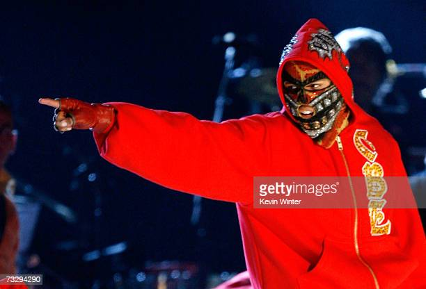 """Artist Chris Brown performs """"Run It"""" onstage at the 49th Annual Grammy Awards at the Staples Center on February 11, 2007 in Los Angeles, California."""