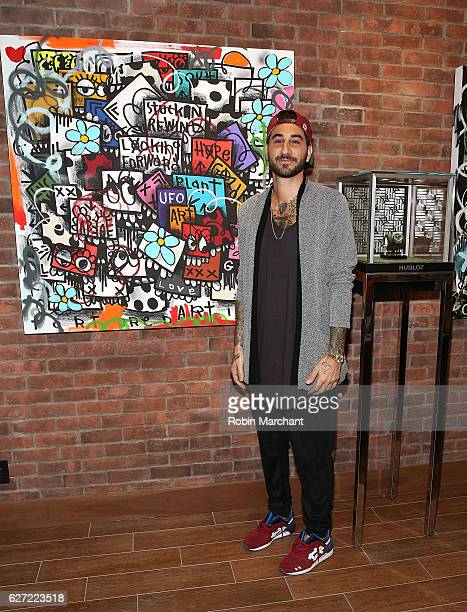 Artist Chris 'Flore' Florentino attends Hublot Cocktail Reception at Miami Design District on December 2 2016 in Miami Florida
