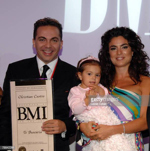 Artist Christian Castro his daughter Simone Castro and his wife Valeria Liberman